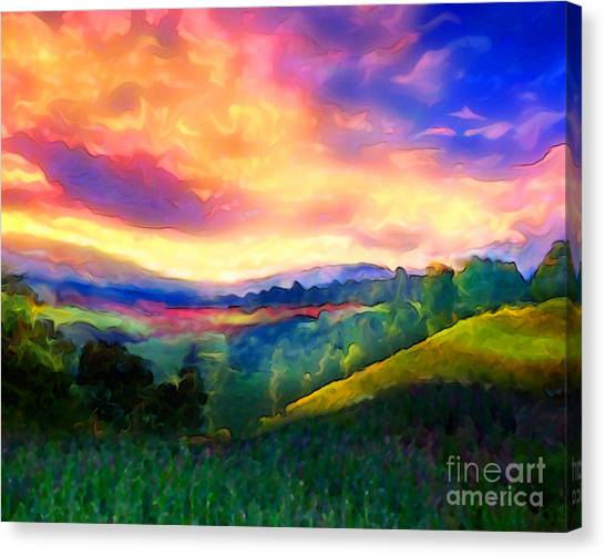 Foothills Canvas Print