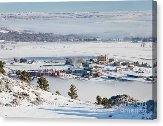 Solar Farms Canvas Print - foothills of Fort Collins, Colorado by Marek Uliasz