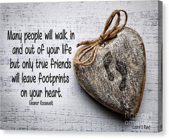 Footprint On Your Heart Canvas Print