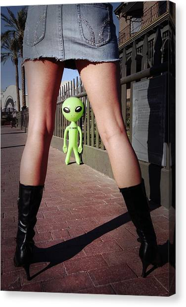 For Alien Eyes Only Canvas Print