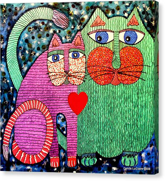 For All The Cats I Canvas Print by Cynda LuClaire