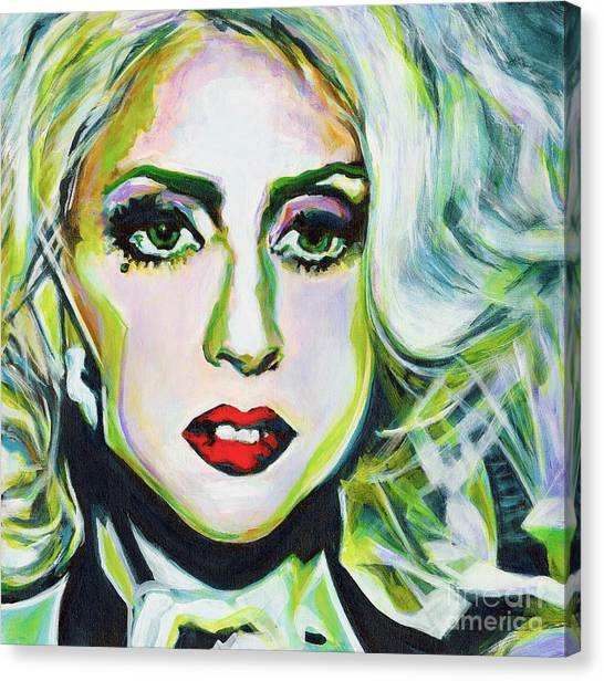 For Being Different Is Easy But To Be Unique Its More Complicated Thing. Lady Gaga Canvas Print