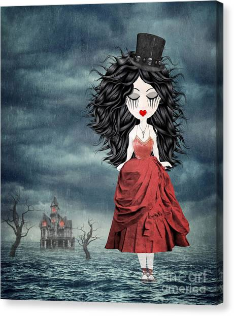 Haunted House Canvas Print - For Ever And Ever by Juli Scalzi