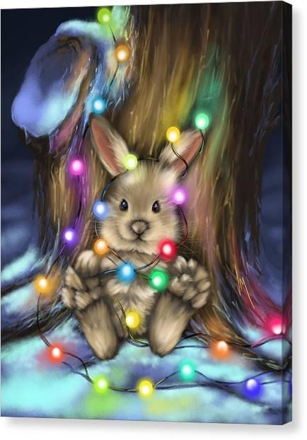 Christmas Lights Canvas Print - For Fun by Veronica Minozzi