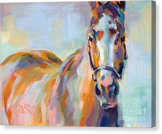 Thoroughbreds Canvas Print - For Her Eyes Only by Kimberly Santini