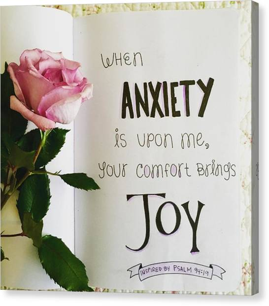 Sketch Canvas Print - Anxiety Turned To Joy by Nancy Ingersoll