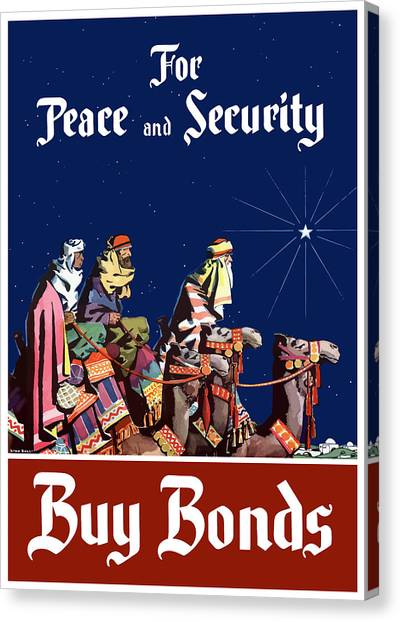 Camels Canvas Print - For Peace And Security - Buy Bonds by War Is Hell Store