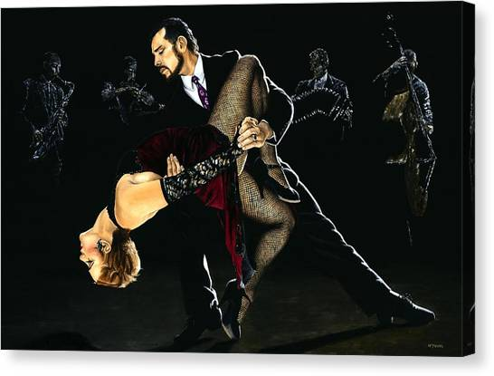 Tango Canvas Print - For The Love Of Tango by Richard Young