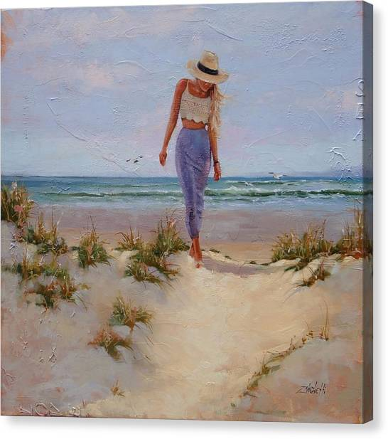 Fashions Canvas Print - For The Love Of The Sea by Laura Lee Zanghetti