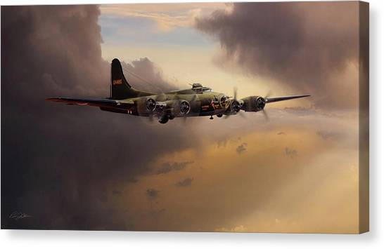 United States Army Air Corps Canvas Print - For Whom The Belle Tolls by Peter Chilelli