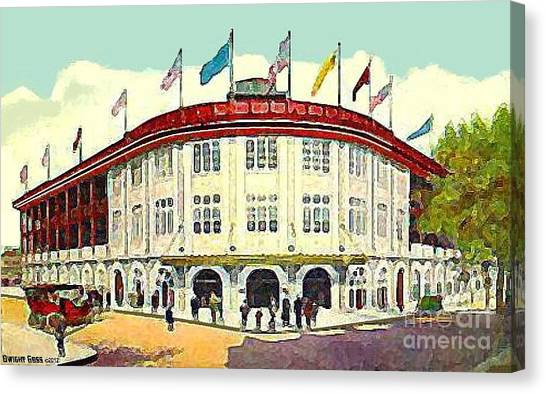 Forbes Field Baseball Stadium In Pittsburgh Pa In 1910 Canvas Print
