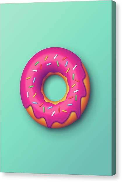 Doughnuts Canvas Print - Forbidden Doughnut - Mint by Ivan Krpan
