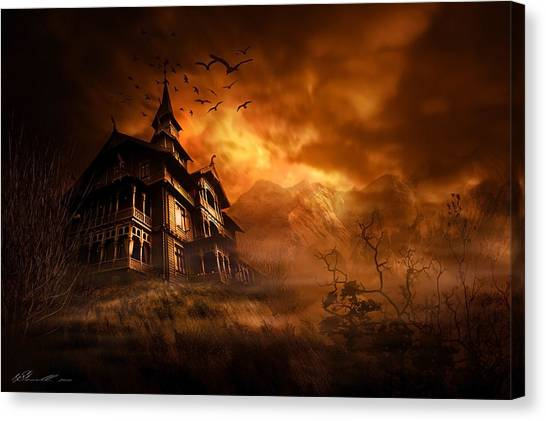 Derelict Canvas Print - Forbidden Mansion by Svetlana Sewell