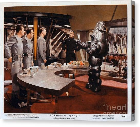 Forbidden Planet Amazing Poster Inside With Scientist Canvas Print