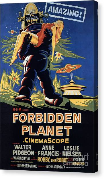 Forbidden Planet Amazing Poster Canvas Print