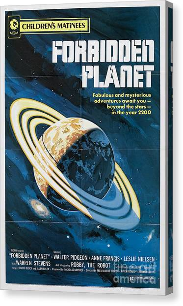 Forbidden Planet Canvas Print - Forbidden Planet Classic Movie Poster by R Muirhead Art
