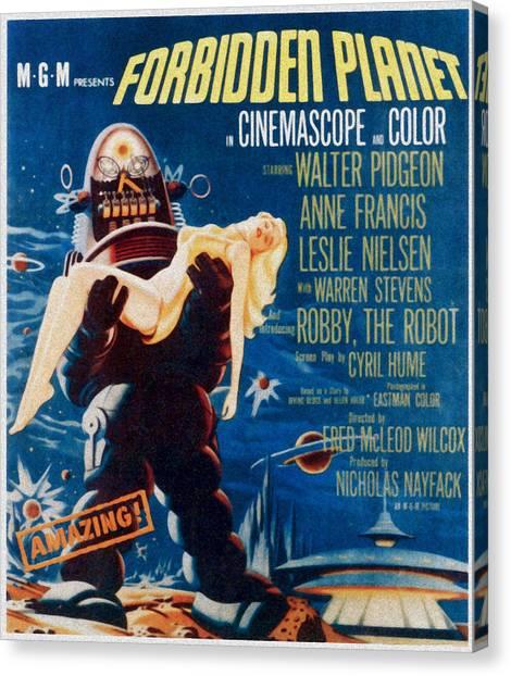 Forbidden Planet Canvas Print - Forbidden Planet, Left Robby The Robot by Everett