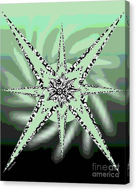 Forceful Movement In Solarized Greens Canvas Print