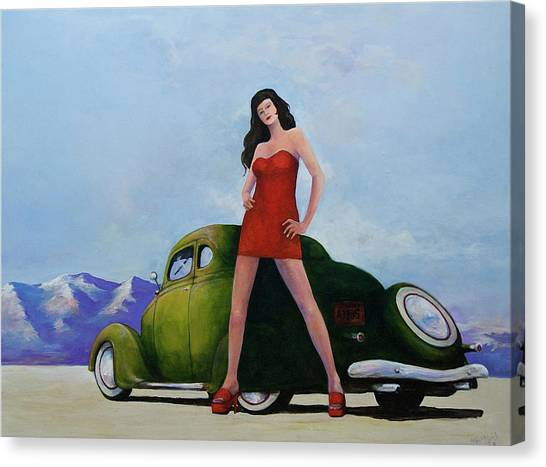 Ford And Chick Canvas Print by Peter Wedel