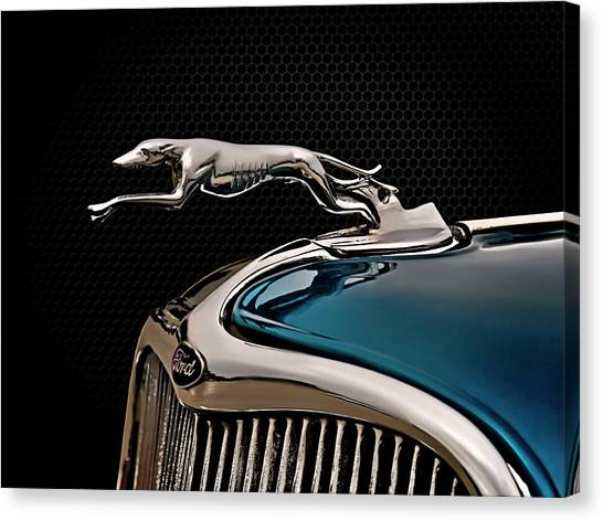 Ford Canvas Print - Ford Blue Dog by Douglas Pittman