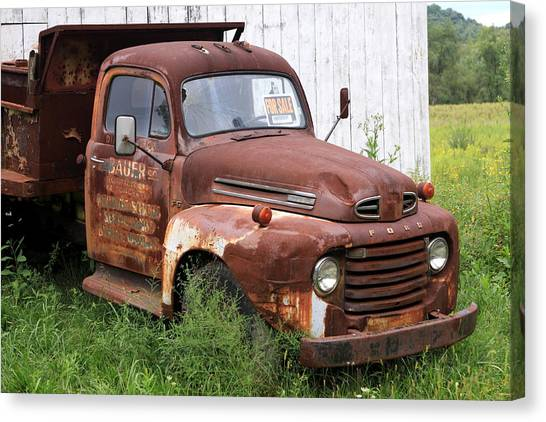 Ford F1 Canvas Print by Dennis Morgan