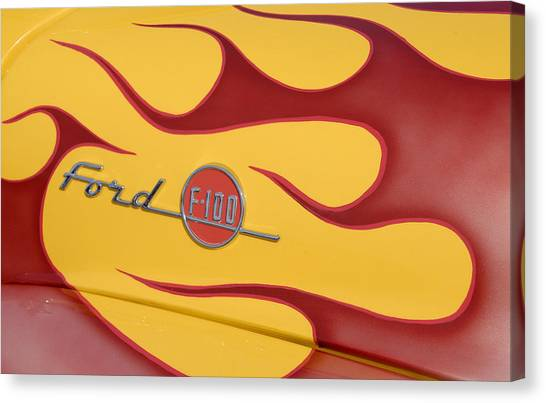 Ford F100 Canvas Print