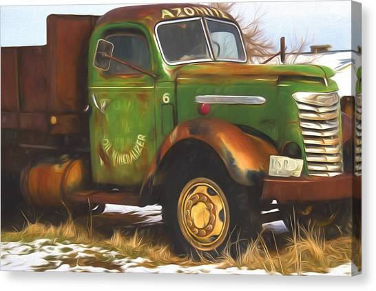 Fashion Plate Canvas Print - Ford Farm Truck Painterly Impressions by Nick Gray