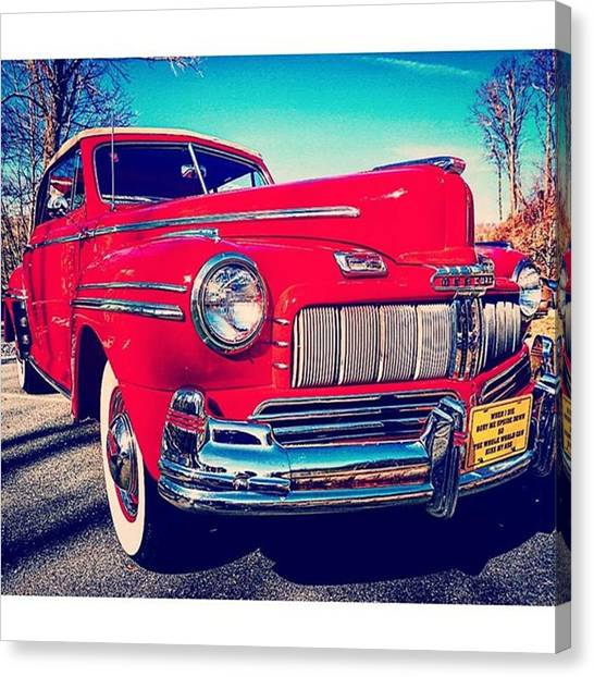 Mercury Canvas Print - #ford #fordmercury #stpetersvillage by Sharon Halteman