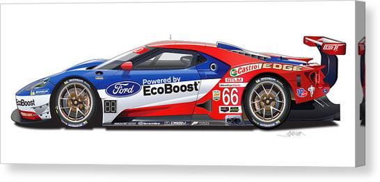 Ford Gt Le Mans Illustration Canvas Print