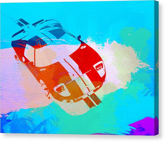 Muscles Canvas Print - Ford Gt Watercolor  by Naxart Studio