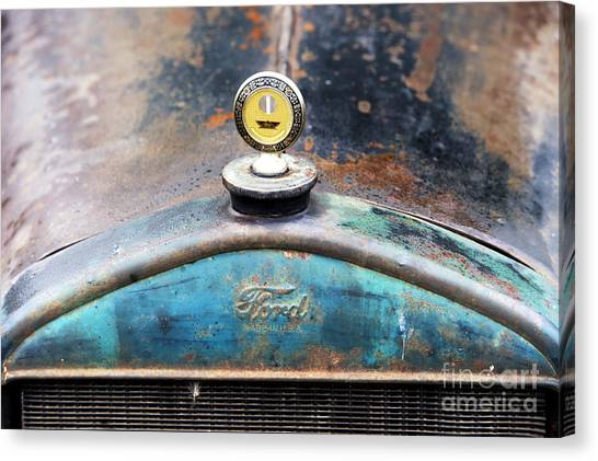 Street Rods Canvas Print - Ford Made In Usa Rat Rod by Tim Gainey