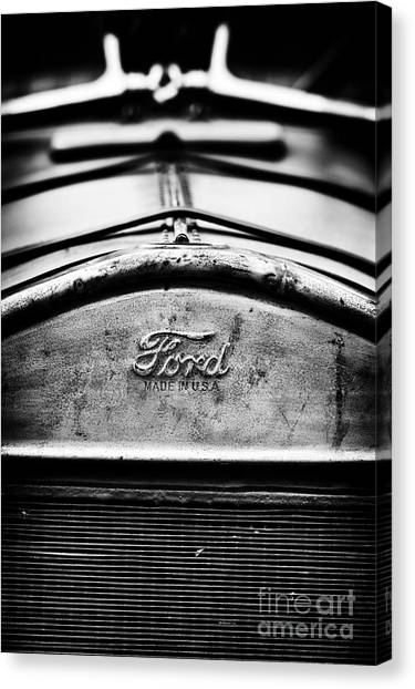 Street Rods Canvas Print - Ford Made In Usa  by Tim Gainey