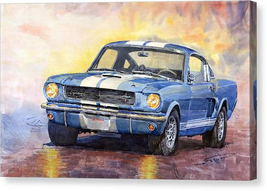 Supplies Canvas Print - Ford Mustang Gt 350 1966 by Yuriy Shevchuk