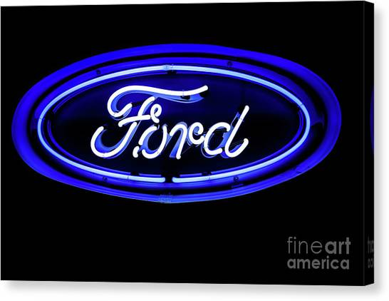 Ford Neon Sign Canvas Print