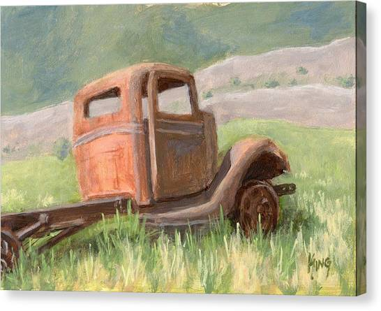 Ford On The Range Canvas Print