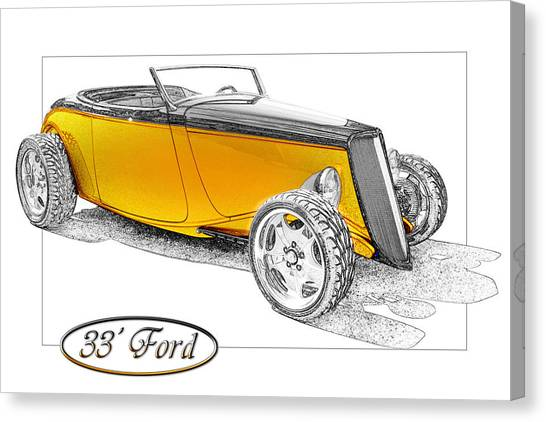 Ford Roadster Canvas Print by Michael Gass