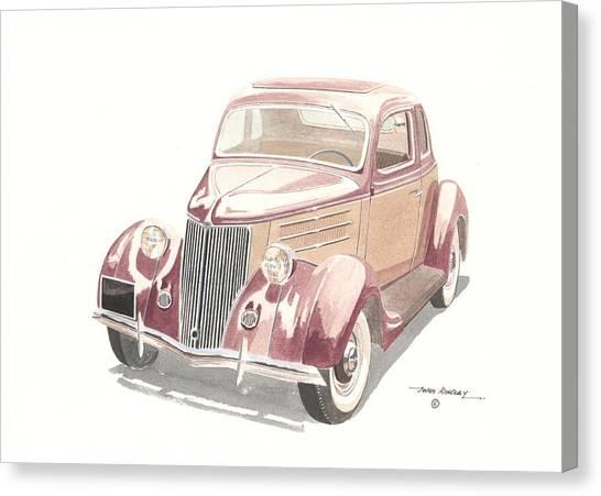 Ford Sedan  1935 Canvas Print by John Kinsley