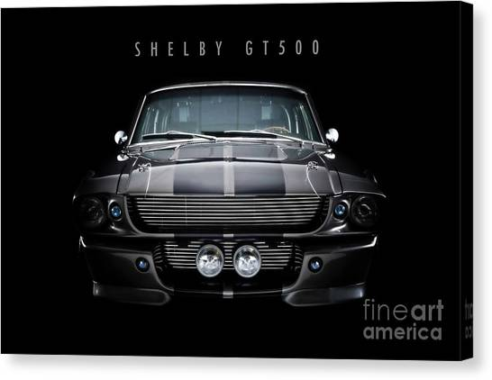 67 Canvas Print - Ford Shelby Gt500 by J Biggadike