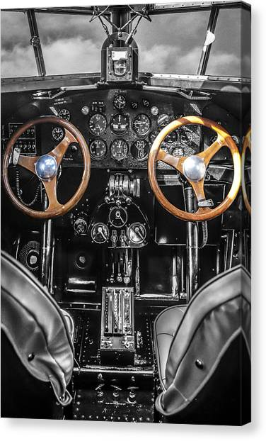 Ford Trimotor Cockpit Canvas Print