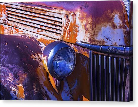 Rusty Truck Canvas Print - Ford Truck by Garry Gay