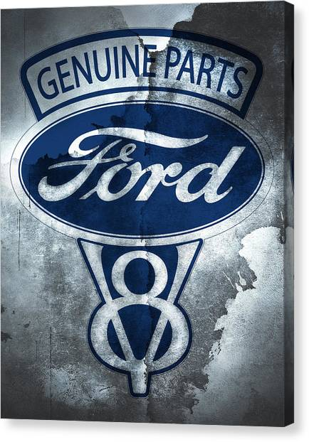 Cobras Canvas Print - Ford V8 by Mark Rogan