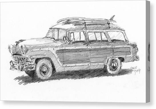 Ford Wagon Sketch Canvas Print