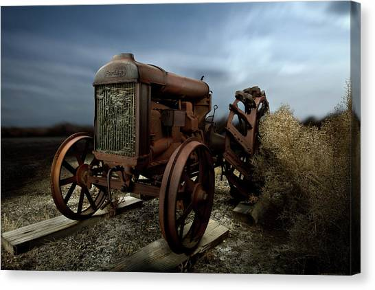 Tractors Canvas Print - Fordson Tractor by Yo Pedro