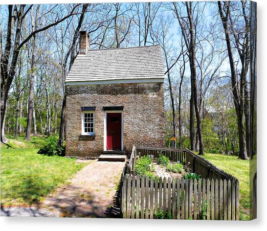 George Foreman Canvas Print - Foreman's Cottage At Allaire Historic Village by George Martinez