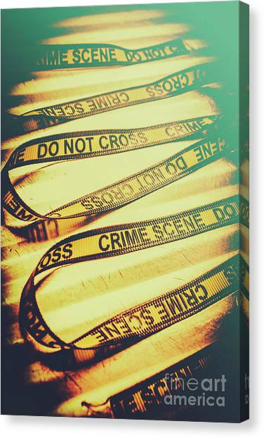 Caution Canvas Print - Forensic Csi Lab Details by Jorgo Photography - Wall Art Gallery
