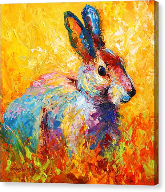 Small Mammals Canvas Print - Forest Bunny by Marion Rose