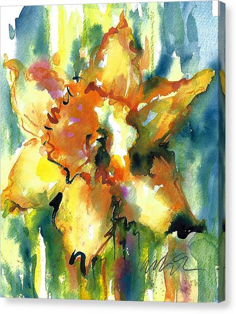 Forest Daffodil The Prayer Canvas Print