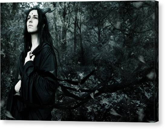 Black Forest Canvas Print - Forest Demon by Cambion Art