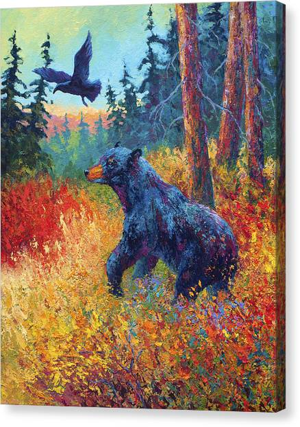 Raven Canvas Print - Forest Friends by Marion Rose