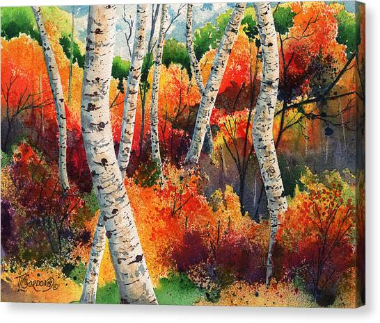 Forest In Color Canvas Print